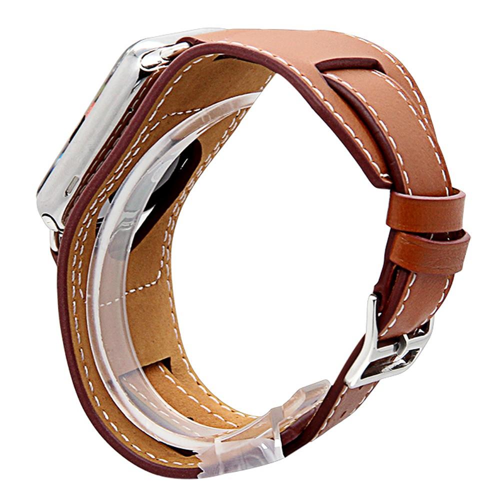 Apple Watch Cuff bracelet Brown 9