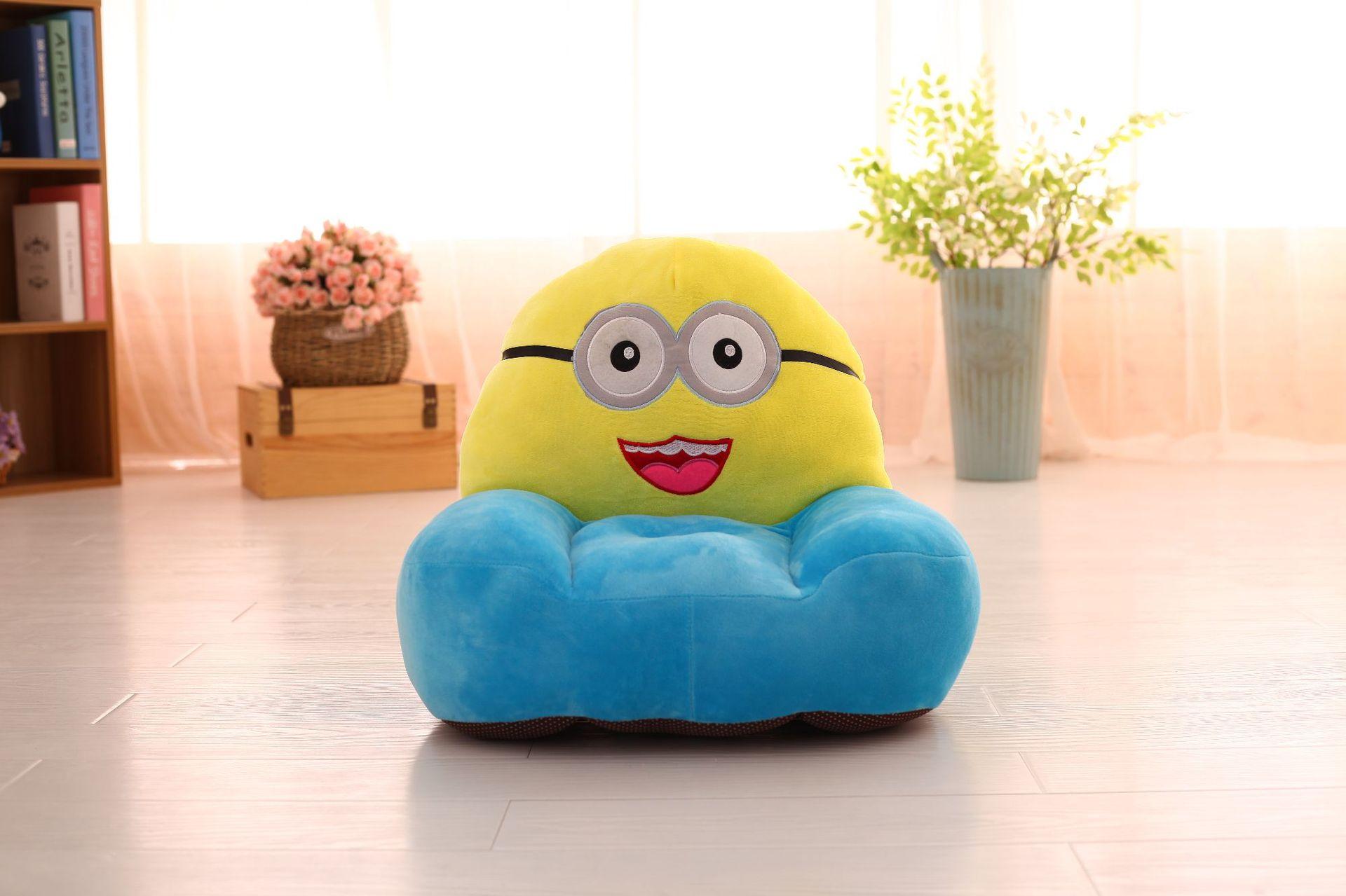 Cartoon Children's Sofa Arm-chair  Toy  PokonyanPikachu Mickey Minnie Doll Baby Chair   Birthday Present Kids Sofa  Kid Chair