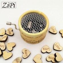 Zipi Music box paper round hand crank 18 Tones music box