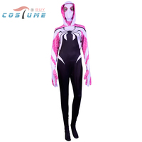 2016 Spider Woman Spider Woman Gwen Stacy Hood Jumpsuit Mask Halloween Cosplay Costumes For Women Custom
