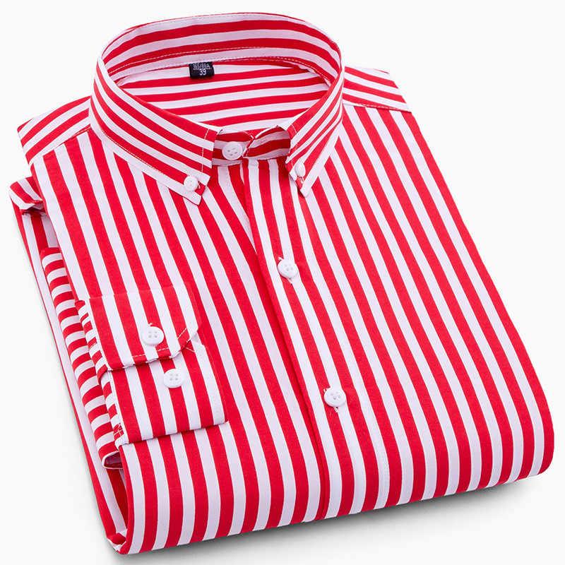 Camisa de negocios a rayas hombres 2019 nuevo vestido de moda camisa de manga larga Casula camisas de hombre camisa masculina