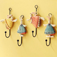2016 New High Quality Vintage Creative iron Hook Clothes Robe Key Holder Hat Hanger Wall Home Decoration B Style