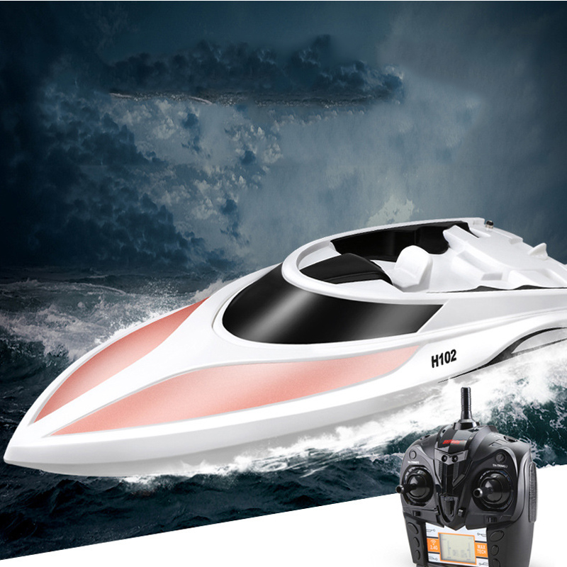 Simulation Remote Control Boat Speed Racing Boat High Speed Water Cooled Remote Control Speed Boat LCD Screen Children's Toys