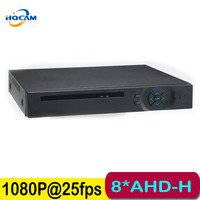 AHD H 1080P 25fps 8CH 1080P AHD DVR CCTV Surveillance Full HD H 264 DVR HDMI