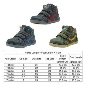 Image 4 - Apakowa # buy 2 obter 1 livre # criança meninos primavera outono gancho e laço botas de tornozelo curto crianças tênis de renda sapatos casuais