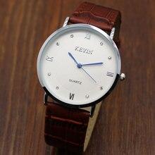 Reloj Hombre 2018 Simple KEVIN Brand Quartz Watches Men Genuine Leather Shark Mesh Clock Male Fashion Dress Watches Women Watch
