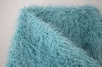 Good Quality Light Blue 5cm Pile Fabric Felt Curly Sheep Faux Fur Cotton Flannel Material Fur