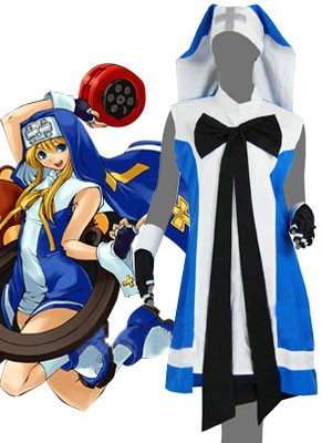Guilty Gear Bridget Blue Cosplay Costume E001