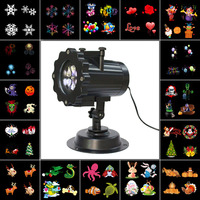Kmashi Snowflake Projector Lights Outdoor LED Laser Stage Chrismas Halloween Decoration Light For DJ Bar Party