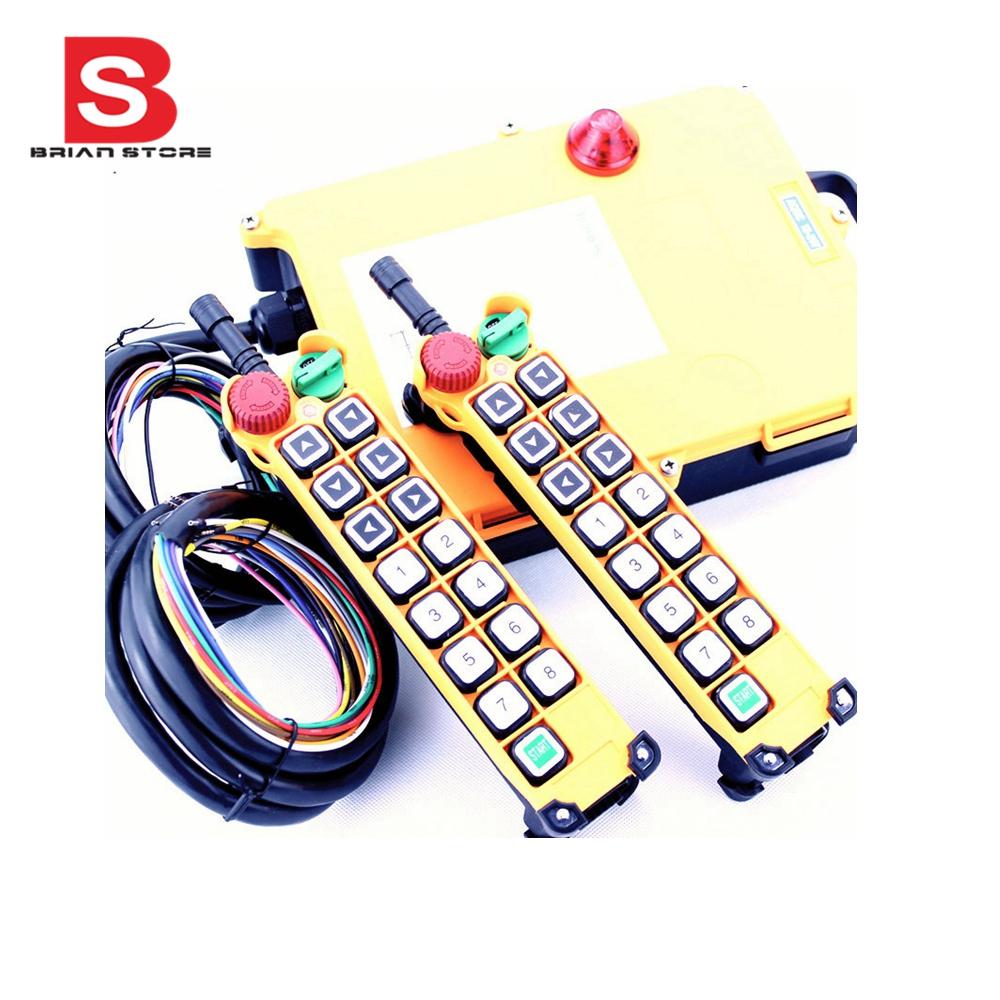 12 24vdc 14 Channels 1 Speed 2 Transmitters Hoist Crane Truck Radio Tiny Rc Cars Transmitter And Charger Circuit X Aa Cell 27mhz Remote Control System With Emergency Stop