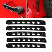 5x Aluminum Door Handle Tailgate Moulding Bar Cover For Jeep Wrangler JK 4 hide fingerprints