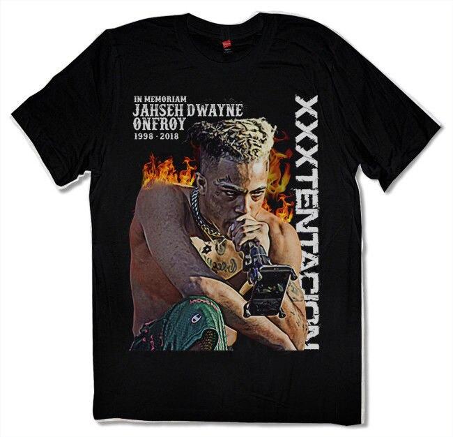 New RIP XXXTENTACION Revenge tour T-shirt Hip hop Rap tee Black S - 3xl T Shirts Short Sleeve Leisure Fashion Summer