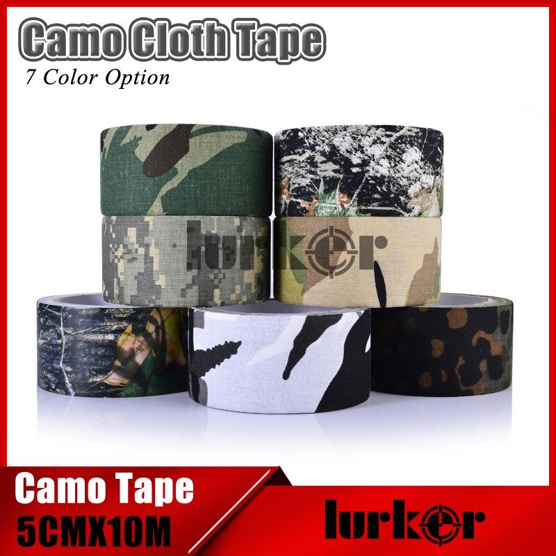 Tactique 5 cm X 10 m Étanche Camo Tissu Ruban Adhésif Pistolet Chasse Camping Camouflage Furtif Bandes Wrap En Plein Air Chasse tir Outil