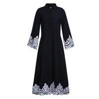 Middle Eastern Turkish Fashion Full breasted Muslim Lace Robes Muslim Long Dresses Dubai Arab Saudi Arabia Women Abaya