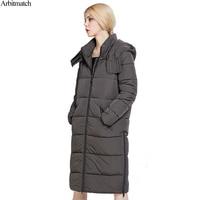 Arbitmatch Winter Jacket Women Brand Design Jacket Coat Female Hood Cotton Warm Coat Long Warm Thick Ladies Parka Quilted Jacket