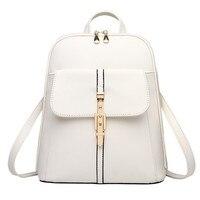 Hot New PU Pratical Schoolbag Casual Traveling Bag Zipper Beige Elegant Women Backpacks