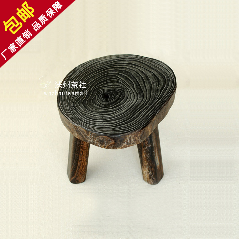 Pleasant Free Shipping Burn Paulownia Small Stool Three Legged Stool Forskolin Free Trial Chair Design Images Forskolin Free Trialorg