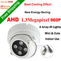 CCTV Câmera 1/3 ''CMOS Sensor Câmera Dome indoor 960 P AHD leds matriz Night vision Ircut filtro CCTV Câmera de 1.3MP sistema de segurança