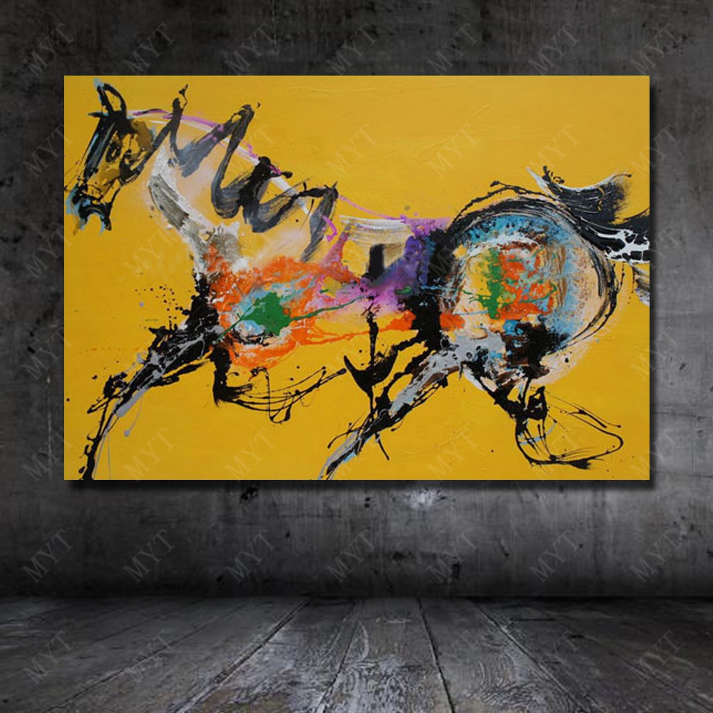 Hot Sale Hand painted Abstract Horse Oil Painting Modern for Home ...