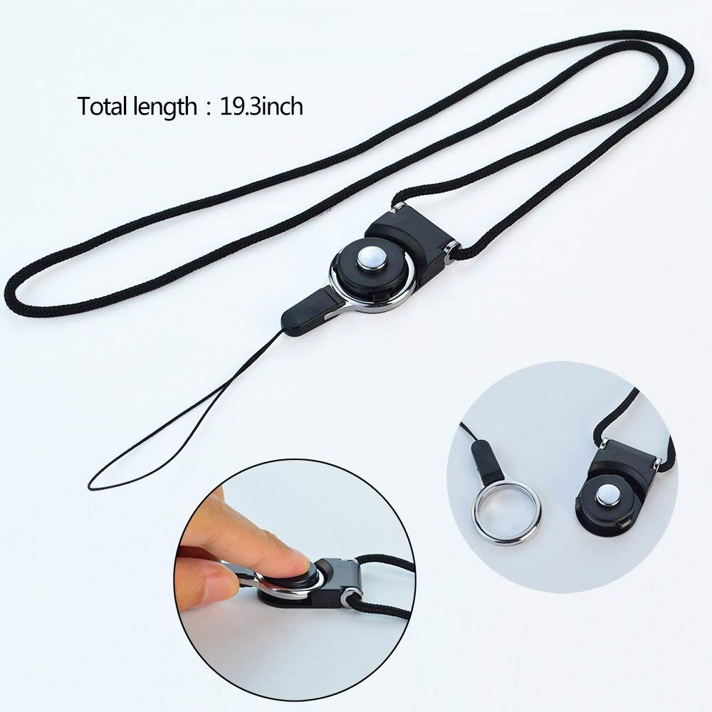 Ascromy Detachable Long Neck Straps Band Lanyard for iPhone X XS Xiaomi Redmi Note 5 Cell Phone Camera Key ID Card Badge Holder (6)