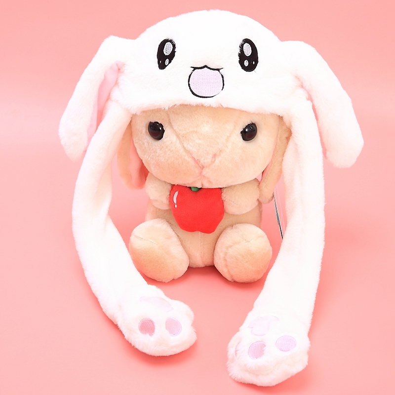 free ship 2018 Fashion Moving Hat Rabbit Ears Plush Sweet Cute Airbag Cap 5 color can be choose(China)