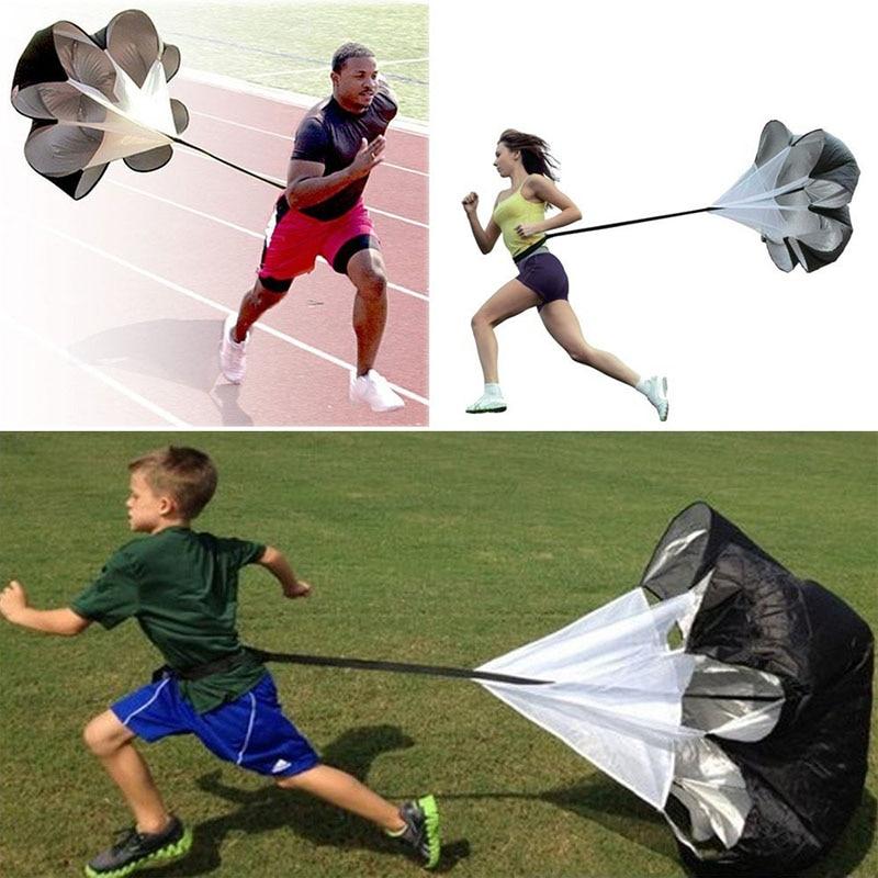 56/'/' Running Chute Speed Training Resistance Parachute Fitness Football 2021 UK