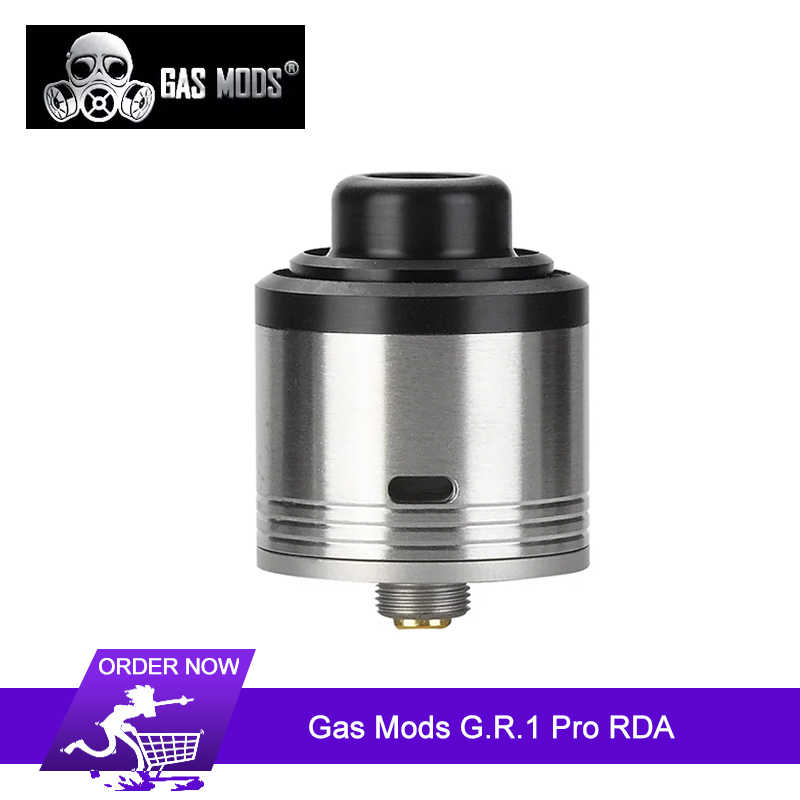 Original Gas Mods G.R.1 Pro RDA Tank With bottom airflow for dual coil and 45-degree side airflow single coil For Squonk Box Mod