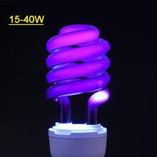 220V E27 15-40W UV светильник лампа ультрафиолетовая лампа дневного света обнаружения CFL спиральная энергосберегающая светильник экономии светильник ing лампы