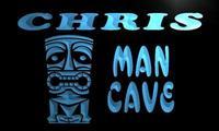 X0093 Tm Chris Man Cave Tiki Bar Custom Personalized Name Neon Sign Wholesale Dropshipping