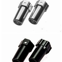1 Pair Silver Black Aluminum Rear Cup Axle Adapters For GPM AXIAL SCX10 SCX022 ELECTRIC 4WD