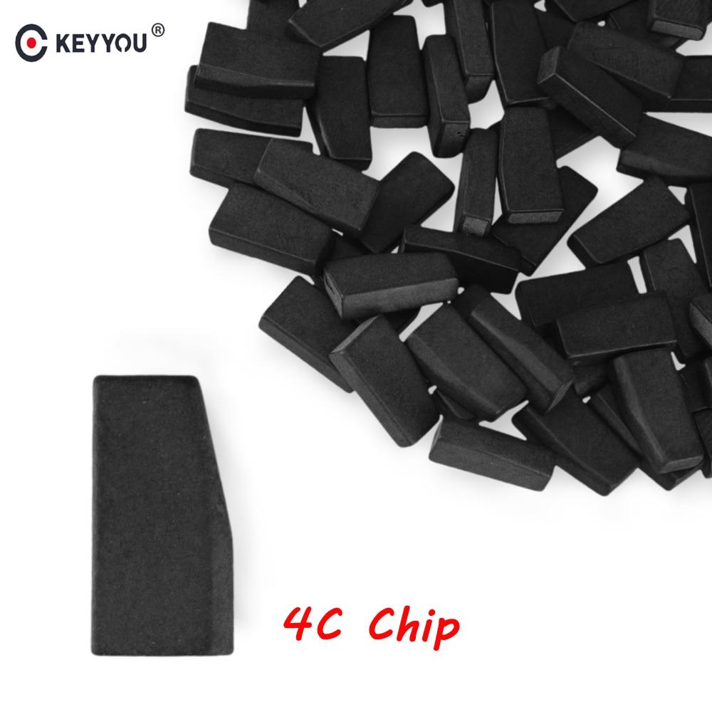 KEYYOU 10x 20x 4C Transponder Chip Blank ID 4C Carbon Car Key Chips Not Coded ID4C For Toyota Camry Prado Corolla Crown Ford