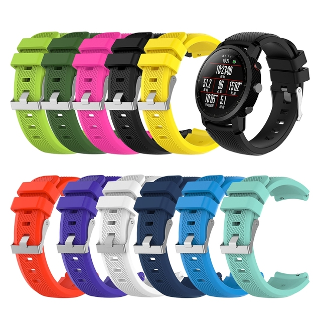 Free delivery 22mm Silicone Strap For Samsung Gear S3 Frontier R380 Huami Amazfi