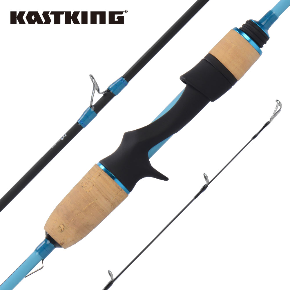 KastKing Verus Casting Spinning Fishing Rod Fuji Guide Fast Action Baitcasting Lure Fishing Rod with Soft