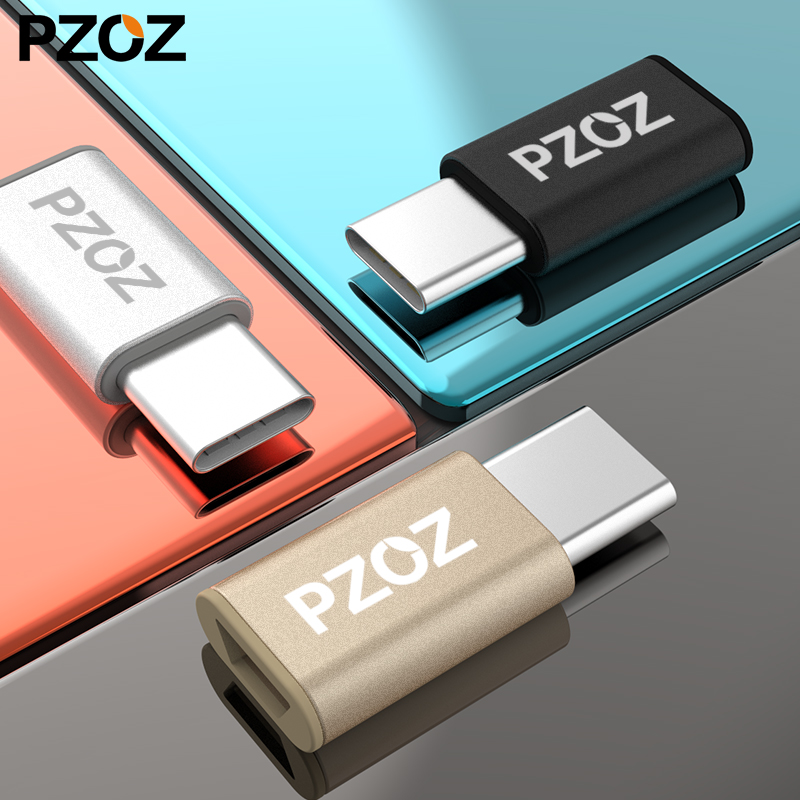 PZOZ Usb 3.1 Type C Male To Micro USB Female Sync Charging Type-c Adapter USB C To Micro Adapter For Samsung Huawei Mate 10