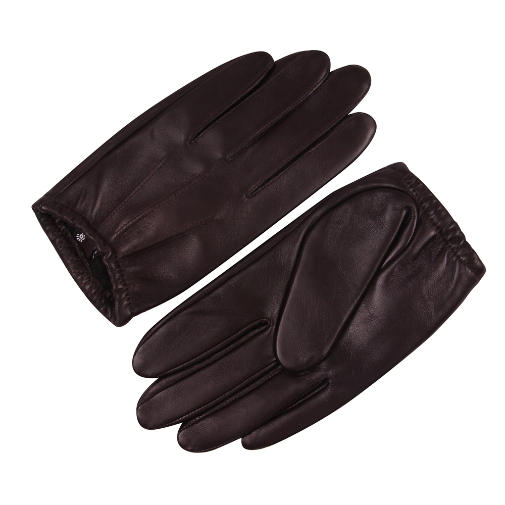 Sheepskin Gloves Male Winter Keep Warm Waterproof Windproof Thin Velvet Lined Touchscreen Genuine Leather Man Gloves M18001PQ-9