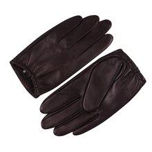 Sheepskin Gloves Male Winter Keep Warm Waterproof Windproof Thin Velve