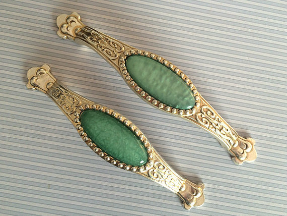 Shabby Chic Dresser Knob Drawer Pull Handles Knobs Antique Silver Turquoise Green Kitchen Cabinet Door Handle Pull Hardware