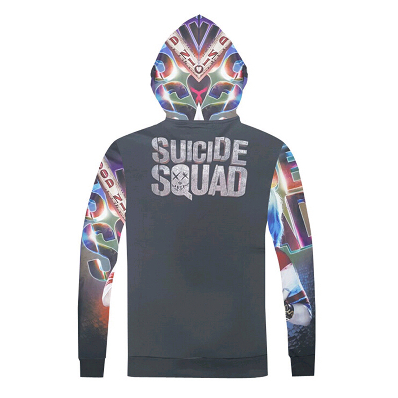 online retailer 7941b e071c US $17.8 42% OFF|DC Comics Men Women fashion Sweatshirt Suicide Squad  Harley Quinn Costumes Hoodies Novelty Funny 3D Hooded sweatshirts Hot  Sale-in ...