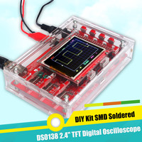 Open Source STM32 2.4 TFT 1Msps DSO138 LCD Digital Oscilloscope Kit Acrylic Case DIY Part Cover SMD Set Kit Fully Assembled