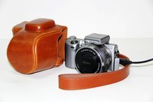Factory outlets High Quality Photo Bag PU Leather Camera Bag Case + Strap For Sony NEX 5T Free Shipping Brown(China)