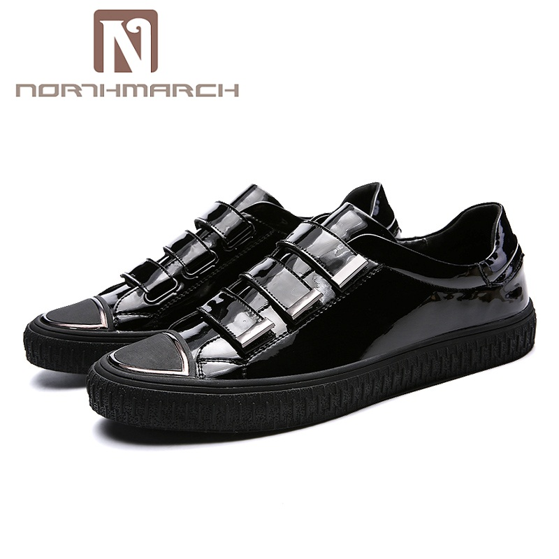 NORTHMARCH 2018 Spring Men Shoes New Elastic Band Man Fashion Microfiber Leather Shoes Men Casual Shoes Outdoor Men's Sneakers micro micro 2017 men casual shoes comfortable spring fashion breathable white shoes swallow pattern microfiber shoe yj a081
