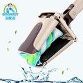 Mão livre Água Suqeezing Fácil Mop Rotativa Mop Pó adequado para Piso De Madeira Mop Limpeza; Comprimento: 132 cm Bostom Tamanho: 35*11.5 cm