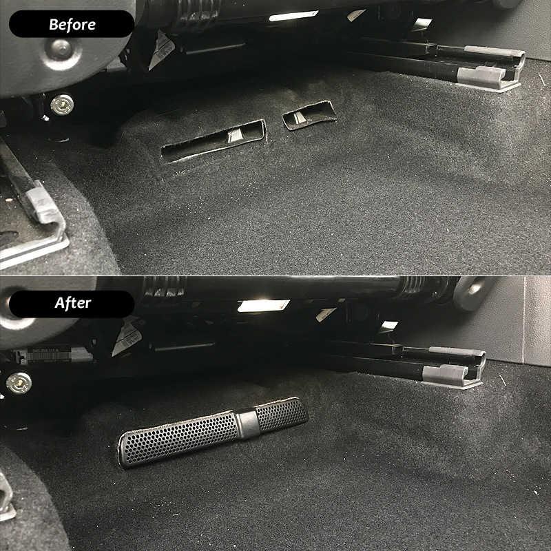 2X 防塵換気車ベントカバー車メッシュエアコン下シートフォルクスワーゲン Vw ティグアン用 Mk2 Allspace 2016 2017