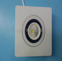 Free Shipping Dimmable 15W COB LED Downlight Square LED Ceiling Down Lamp White Shell Led Recessed
