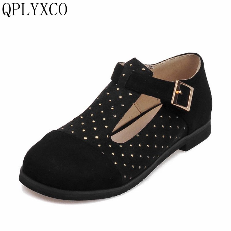 QPLYCO Sale Big & Small Size 28-52 4 color Spring Autumn Women Pumps Women Shoes Square Toe low heels fashion Sweet shoes E1206 xexy small square toe medium heels natural leather women shoe spring autumn buckle strap dance party sweet platform women pumps