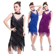 Ladies 1920s Flapper Latin Dress Great Gatsby Party Charleston Fringe Latin Salsa Dance Performance Costume Dress fringe cami dress