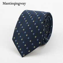 Mantieqingway Wedding Business Polyester Ties for Mens Suit Polka Dots Narrow Necktie Gravatas Slim Neckwear Neck Tie Cravats