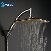 MEOTIYS Bathroom Shower Head Unique Brass Hand Held Shower Head Chrome Square Shape Sprayer Rainfall Shower