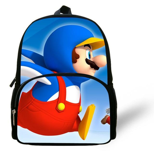 abd971a9e3cd Cute 12-inch Mochila School Kids Mario Backpacks Online Mario School Bag  For Boys Cute Girls Cartoon Children Backpacks Aged 1-6