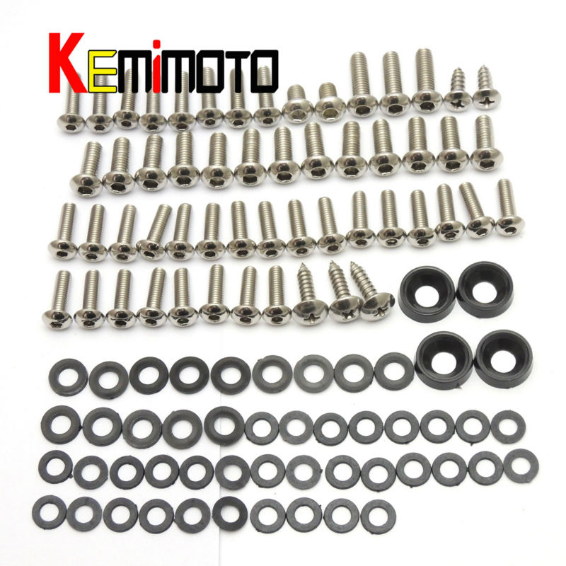 2006 2007 Ninja ZX10R Motorcycle Fairing Bolt Screw Fastener Nut Washer Kit For Kawasaki Ninja ZX-10R 2006 2007 motorcycle fairing kit for kawasaki ninja zx10r 2006 2007 zx10r 06 07 zx 10r 06 07 west white black fairings set 7 gifts kd01